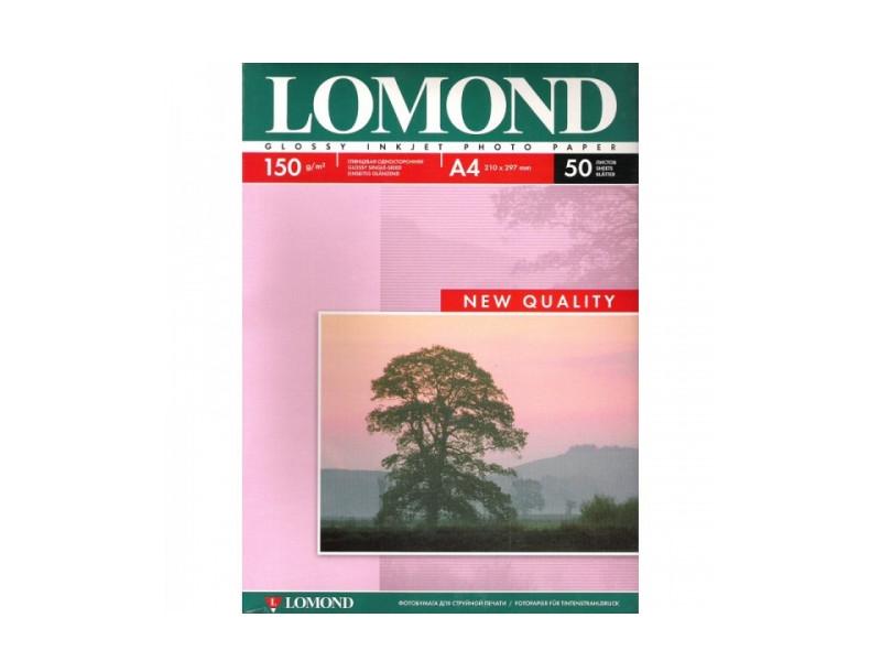 Фотобумага Lomond A4 150g/m2 глянцевая 50 листов 102018
