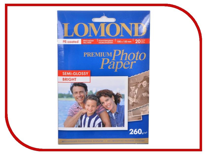 Фотобумага Lomond Premium полуглянцевая 260g/m2 20 листов 1103302