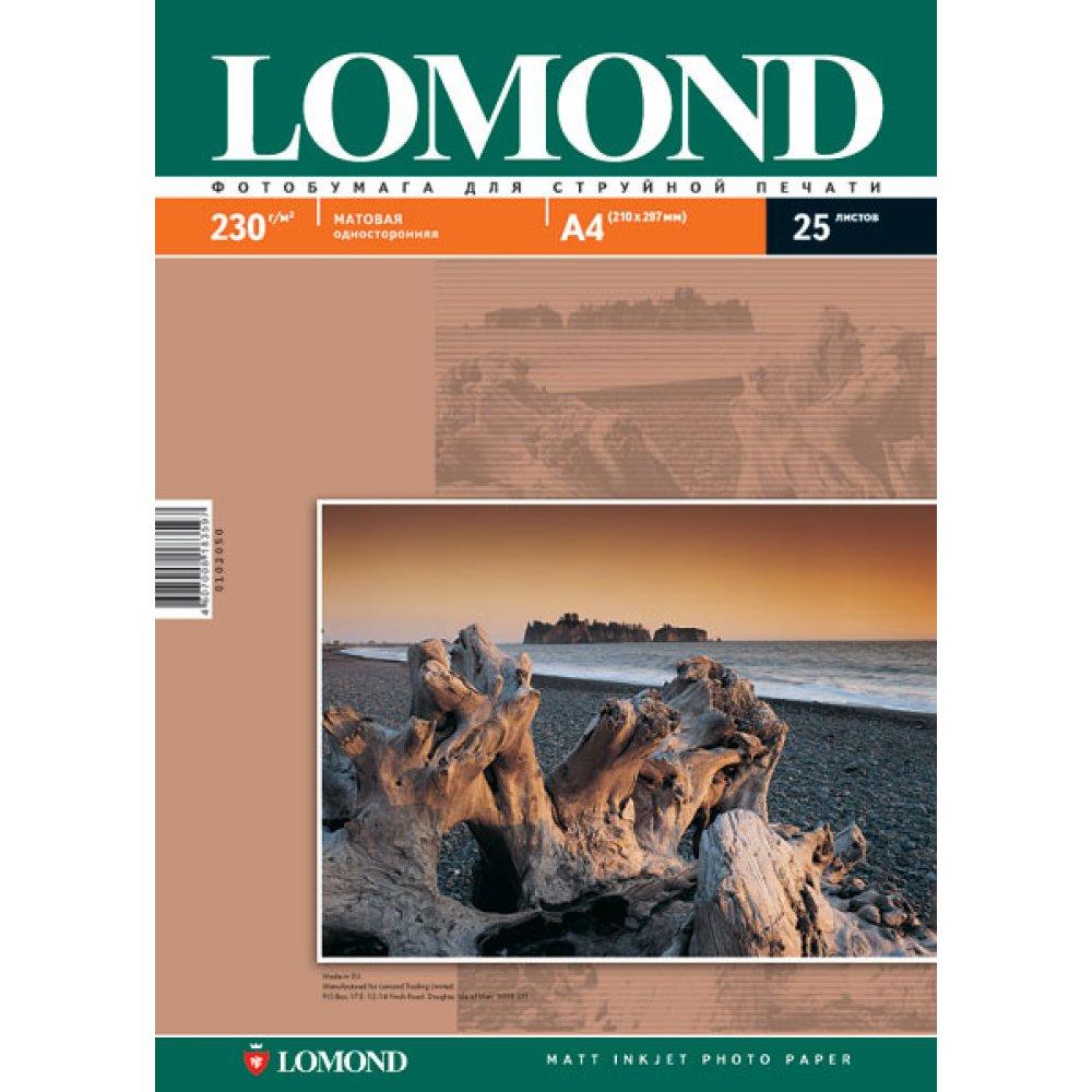 Фотобумага Lomond A4 230g/m2 матовая 25 листов 102050