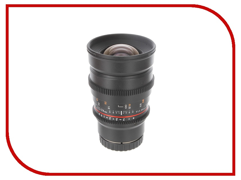 Объектив Samyang Canon M MF 24 mm T1.5 AS ED IF UMC II VDSLR II от Pleer