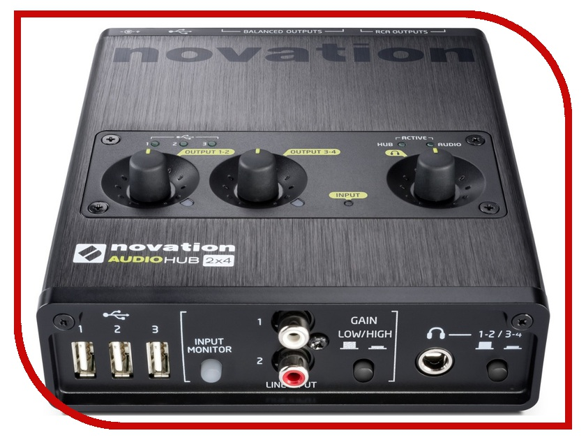 Аудиоинтерфейс Novation Audiohub 2x4 novation impulse 49