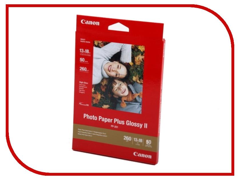 Фотобумага Canon Plus Glossy II PP-201 260g/m2 50 листов 2311B003<br>