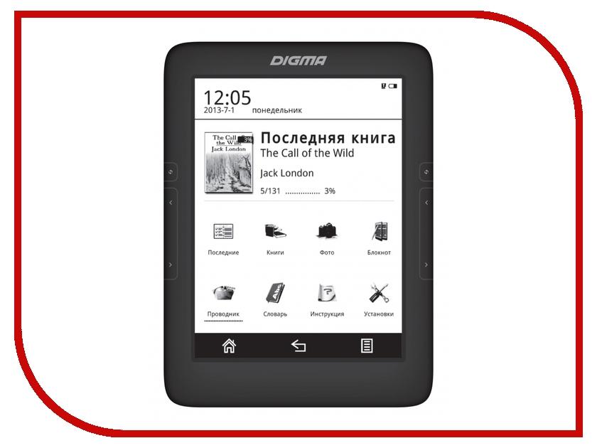 Электронная книга Digma T646 Black<br>