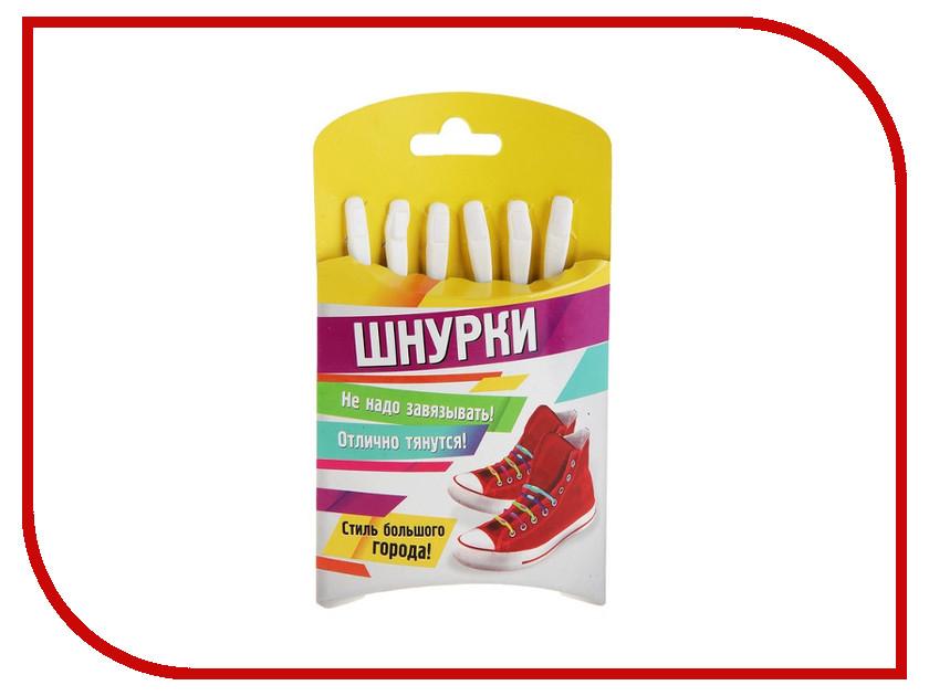 Гаджет СИМА-ЛЕНД Шнурки резиновые White 332608<br>