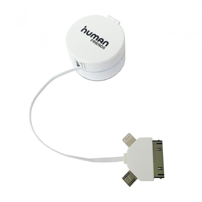 Аксессуар CBR / Human Friends Trunk USB to Micro USB White
