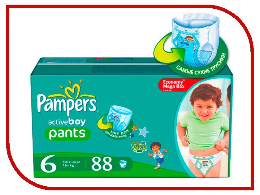 Подгузники Pampers Pants Extra Large 16+кг 88шт 4015400697558<br>