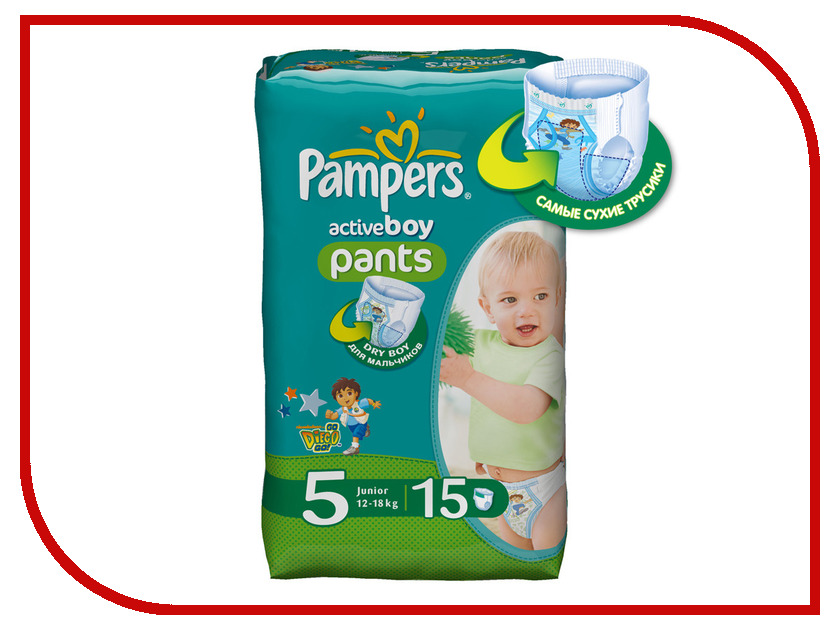 Подгузники Pampers Active Boy Junior 12-18кг 15шт 4015400727026<br>