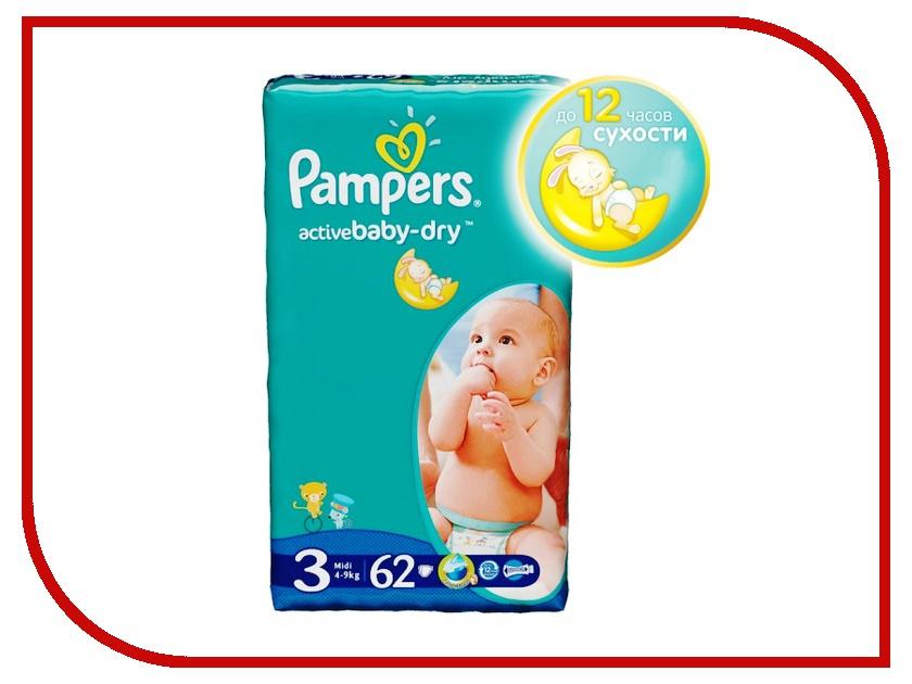Подгузники Pampers Active Baby-Dry Midi 4-9кг 62шт 4015400265054<br>