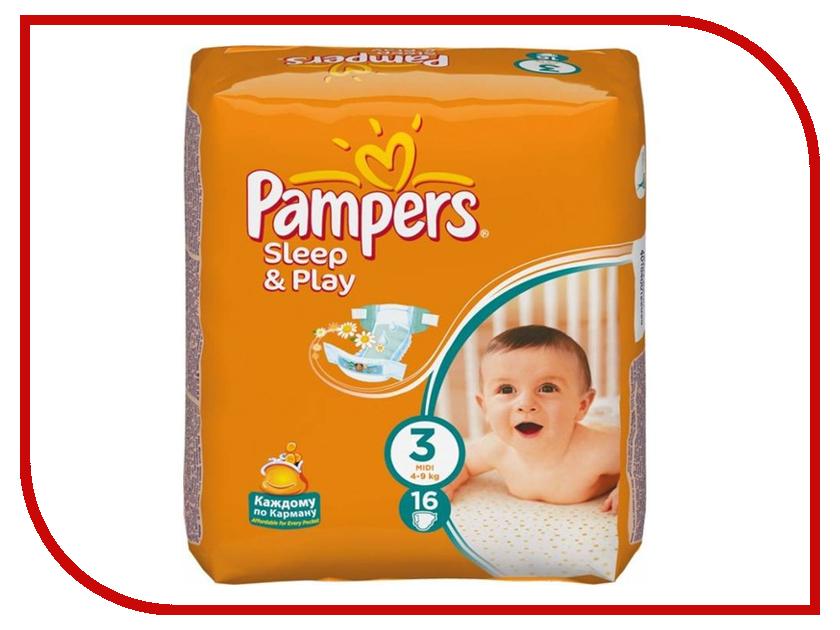 купить Подгузники Pampers Sleep & Play Midi 4-9кг 78шт 4015400203520 по цене 828 рублей