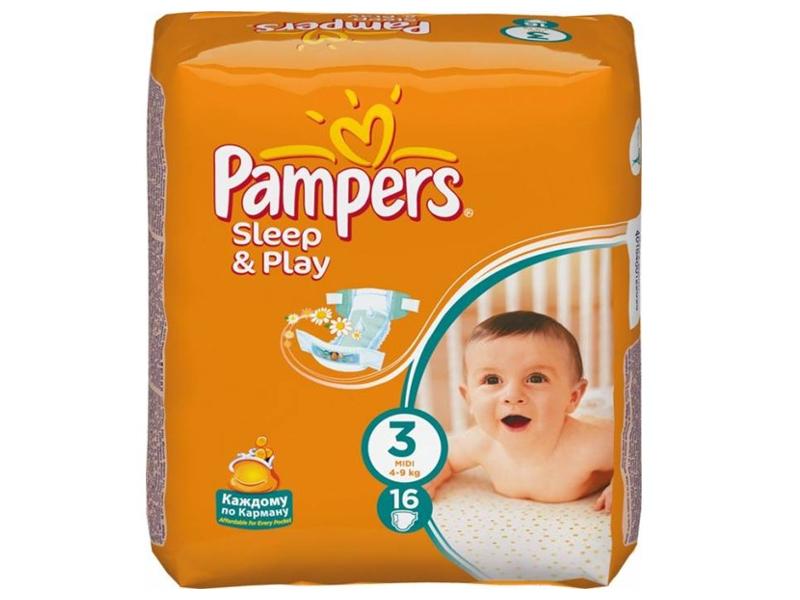 Подгузники Pampers Sleep & Play Midi 4-9кг 78шт 4015400203520 утюг braun texstyle ts320c бело фиолетовый