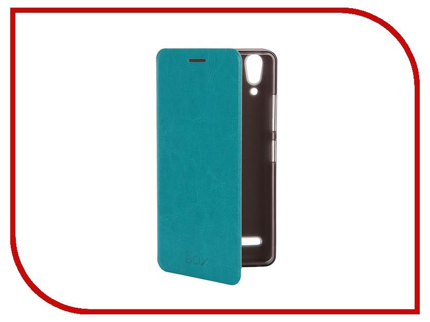 Аксессуар Чехол Lenovo A6000 SkinBox Lux Blue T-S-LA6000-003<br>
