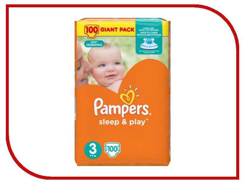 Подгузники Pampers Sleep &amp; Play Midi 5-9кг 100шт 4015400354239<br>