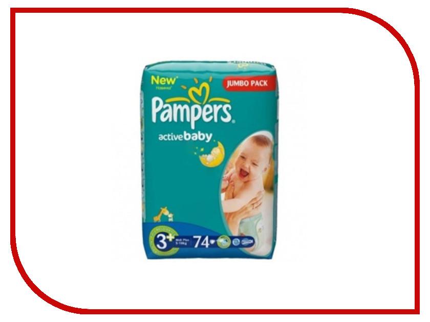 Подгузники Pampers Active Baby Midi Plus 5-10кг 74шт 4015400557982<br>