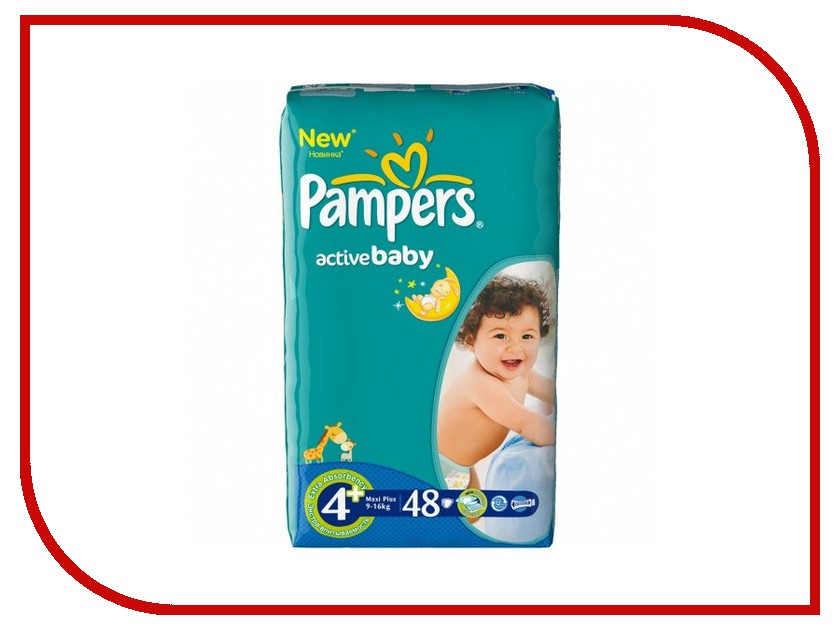 ���������� Pampers Active Baby-Dry Maxi Plus 9-16�� 48�� 4015400306894