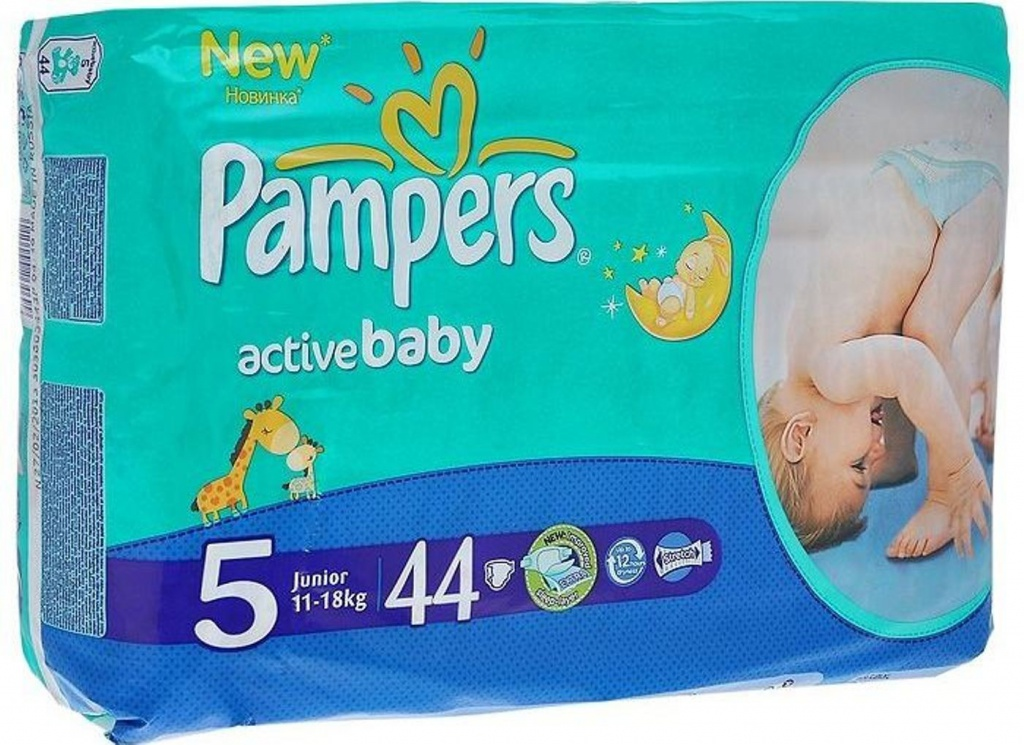 Подгузники Pampers Active Baby-Dry Junior 11-18кг 44шт PA-81500510<br>