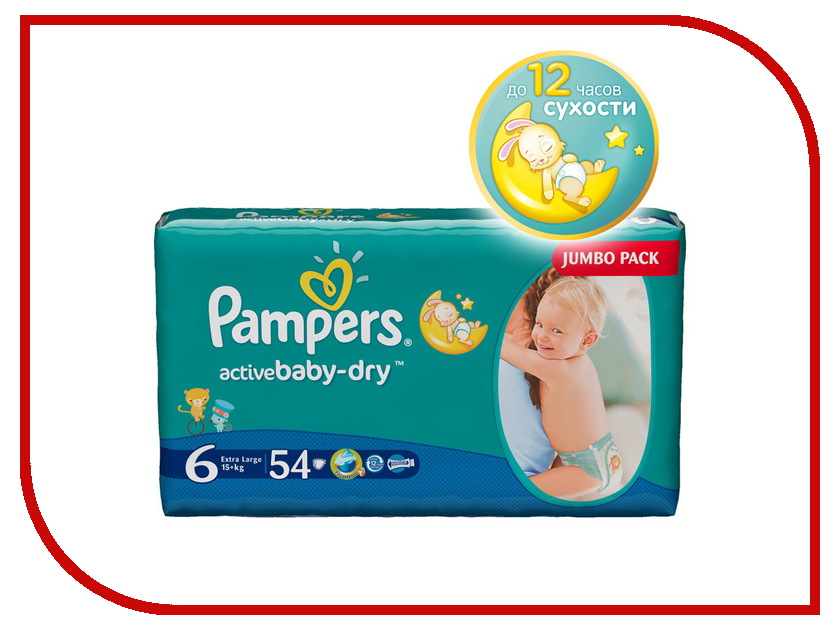 Подгузники Pampers Active Baby-Dry Extra Large 15+кг 54шт 4015400244875 сени супер air extra large подгузники n30