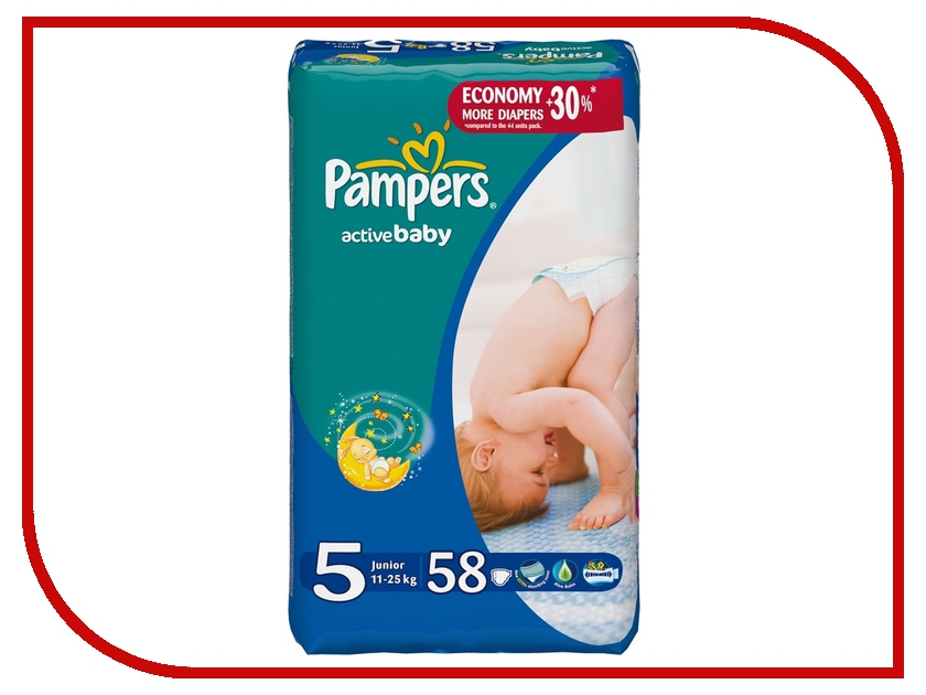 Подгузники Pampers Active Baby Junior 11-18кг 58шт 4015400203582<br>