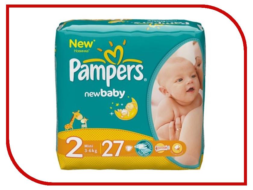Подгузники Pampers New Baby-Dry Mini 3-6кг 27шт 4015400537397 подгузники pampers newbaby dry mini 2 3 6 кг