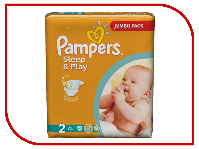 Подгузники Pampers Sleep &amp; Play Mini 3-6кг 18шт 4015400122807<br>