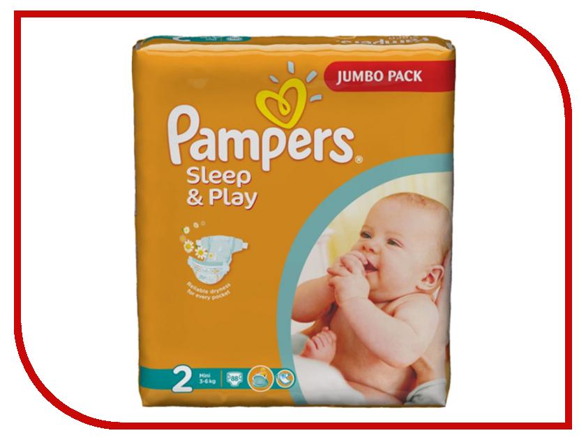 Подгузники Pampers Sleep & Play Mini 3-6кг 88шт 4015400378952 pampers pampers sleep
