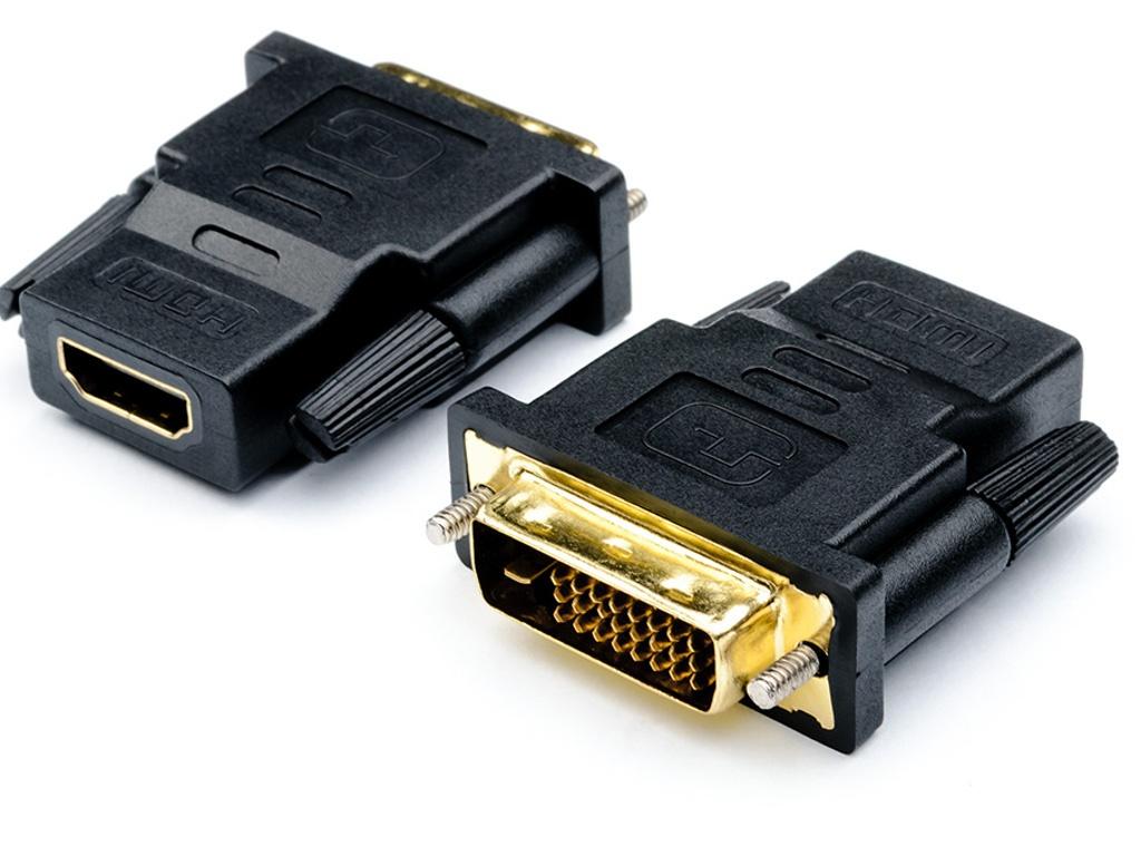 Аксессуар ATcom DVI M - HDMI F Black АТ11208 аксессуар atcom dc 3 5 jack m 2 f 0 1m at16850