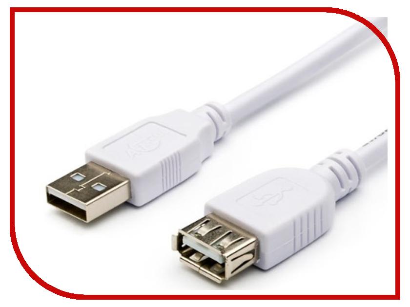 Аксессуар ATcom USB 2.0 AM/AF 1.8m White AT3789 стоимость