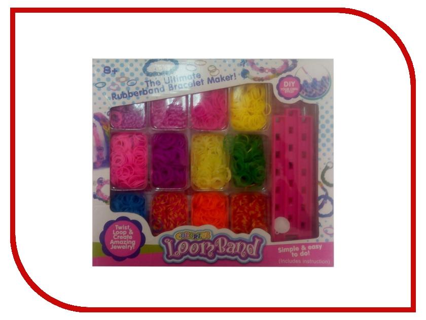 Набор для творчества DIY Loom Bands Розовый / Pink Set LB37