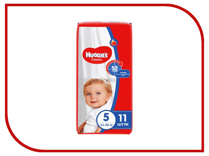 Подгузники Huggies Classic 5 11-25кг 11шт