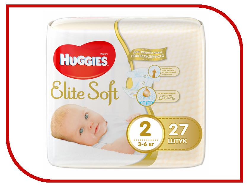 Подгузники Huggies Elite Soft 2 3-6кг 27шт