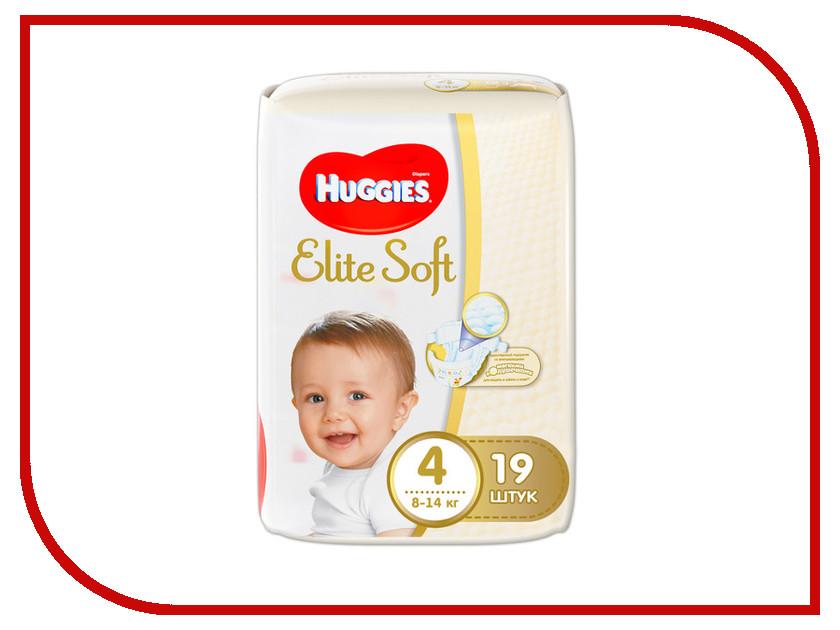 Подгузники Huggies Elite Soft 4 8-14кг 19шт