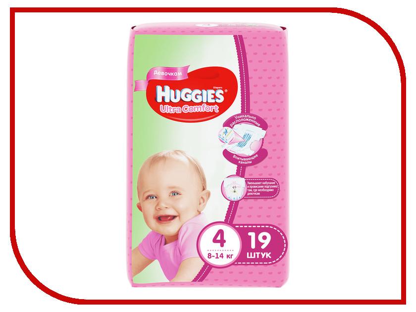 Подгузники Huggies Ultra Comfort 4 8-14кг 19шт для девочек