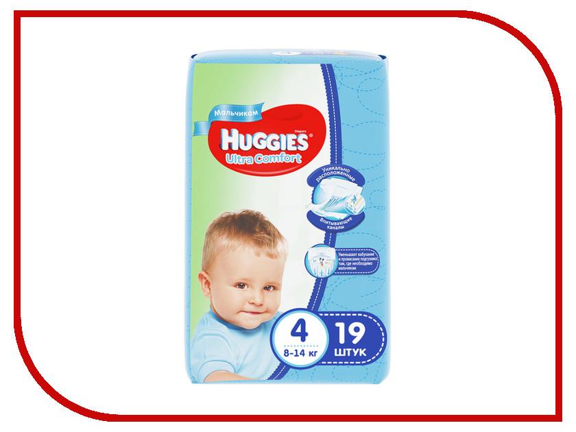 Подгузники Huggies Ultra Comfort 4 8-14кг 19шт для мальчиков