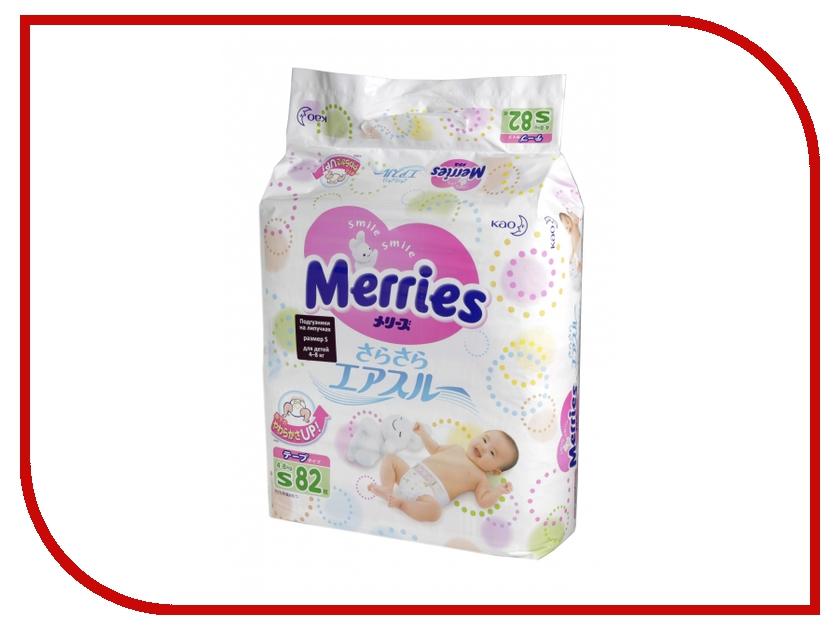 Подгузники Merries S 4-8кг 82шт 62020309<br>