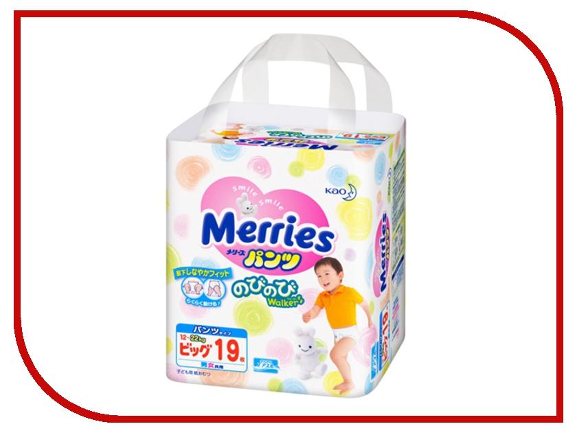 Подгузники Merries XL 12-22кг 19шт 62020407 / 4901301509116