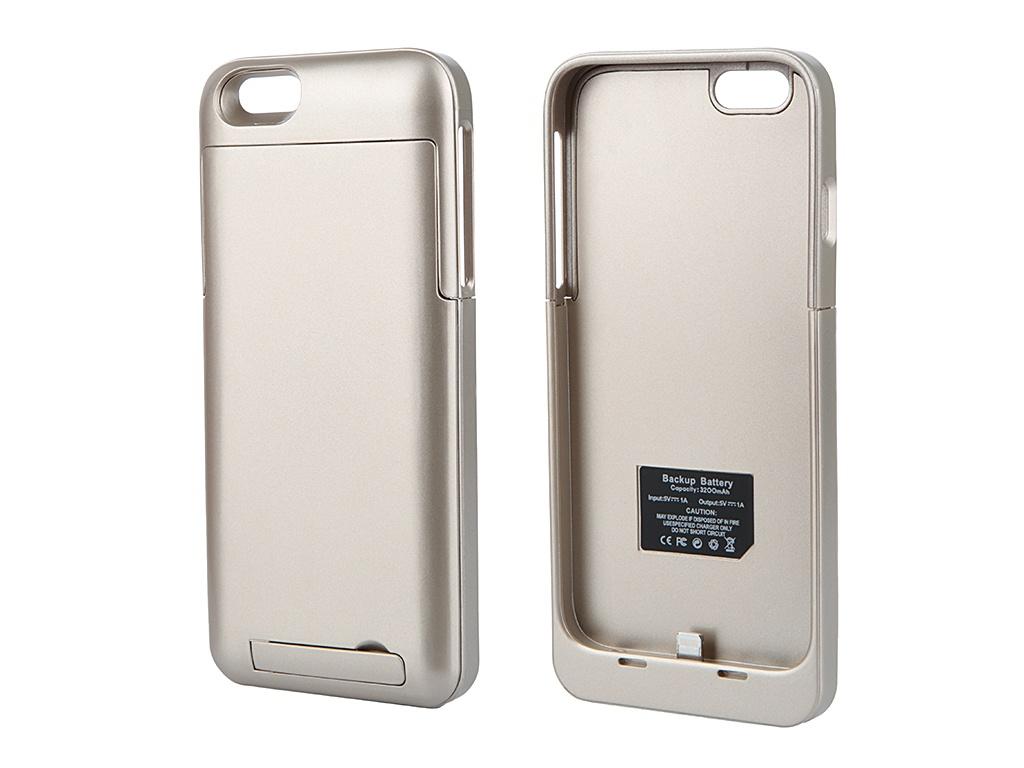 Аксессуар Чехол-аккумулятор Ainy 3200 mAh для iPhone 6 Gold