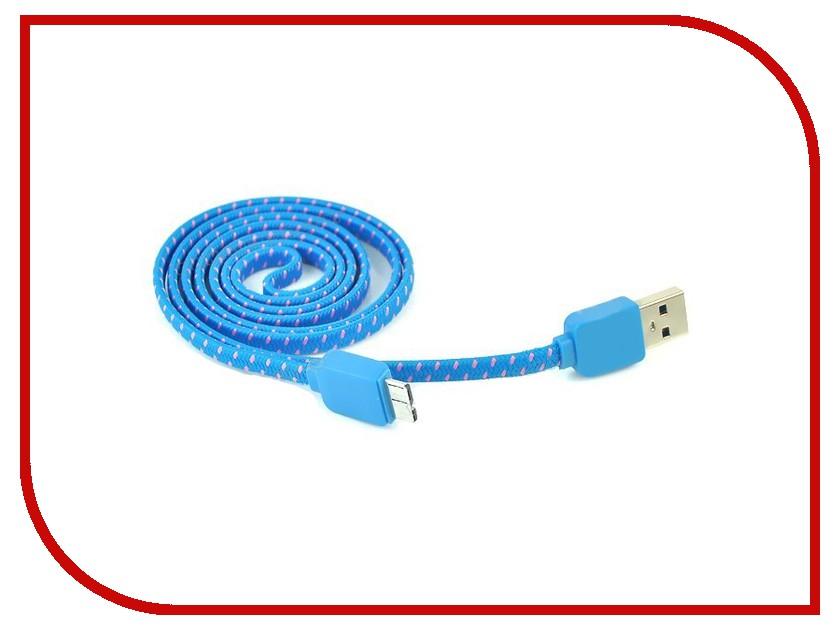 Аксессуар Solomon microUSB Nylon 1м Blue