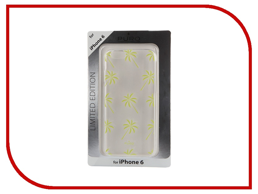 Аксессуар Чехол PURO Crystal Cover Palm для iPhone 6 4.7 Yellow IPC647PALMYEL<br>