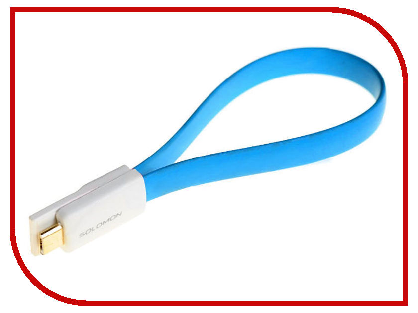 Аксессуар Solomon microUSB 22.5cm Blue
