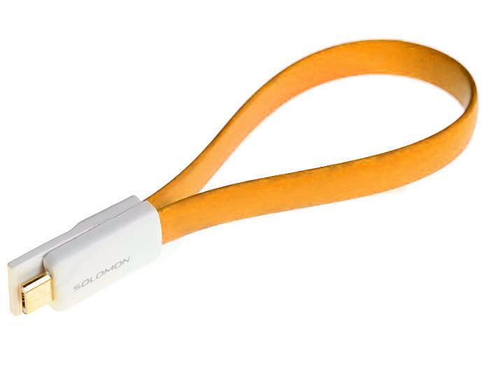 Аксессуар Solomon microUSB 22.5cm Orange