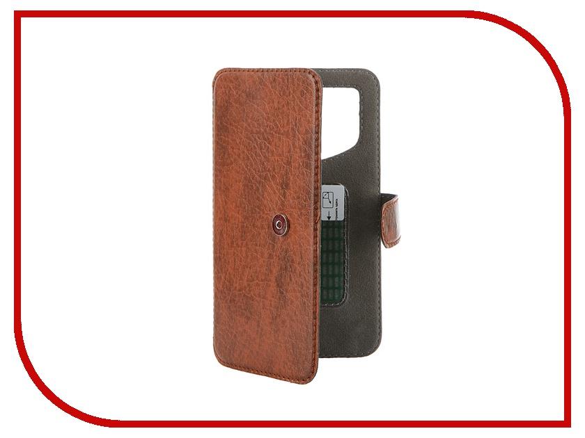 Аксессуар Чехол-книжка Norton Ultra Slim 4.3-4.8 137x68mm Brown аксессуар чехол книжка norton 5 5 6 inch универсальный на клейкой основе с выдвижным механизмом black