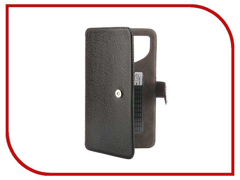 Аксессуар Чехол-книжка Norton Ultra Slim 5.3-5.7 153x80mm Black