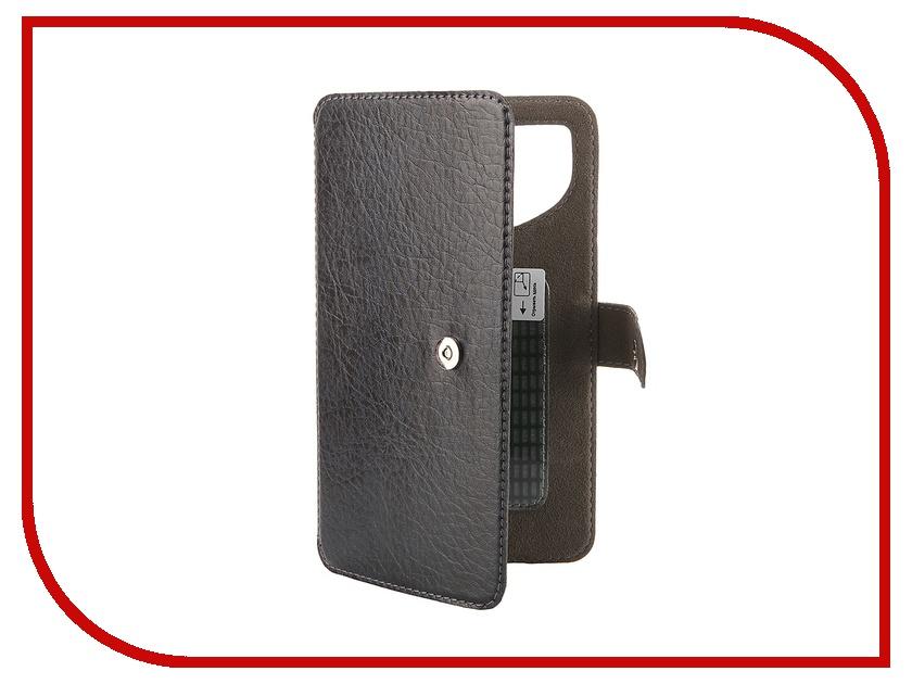 Аксессуар Чехол-книжка Norton Ultra Slim 5.3-5.7 153x80mm Dark-Blue