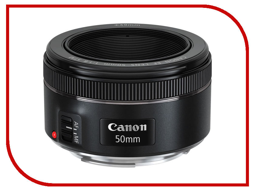 Объектив Canon EF 50 mm F/1.8 STM объектив canon ef s 18 55 mm f 3 5 5 6 is stm kit silver