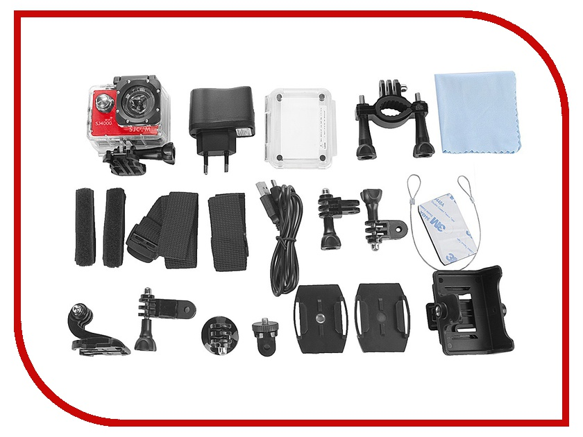 Экшн-камера SJCAM SJ4000 Wi-Fi Red sjcam sj5000 plus black экшн камера