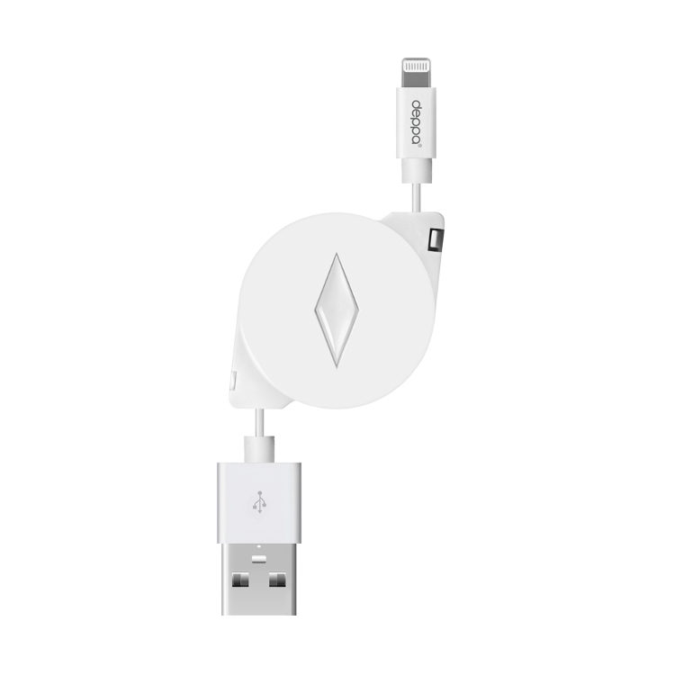 Аксессуар Deppa USB 8-pin Data Cable для APPLE 0.9m White 72168