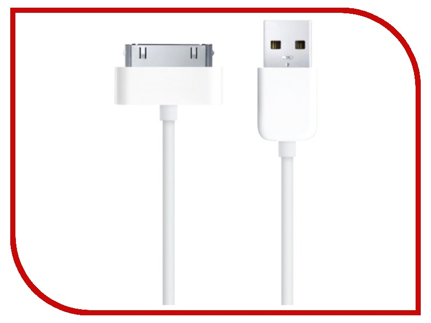 Аксессуар OltraMax USB 2.0 to 30-pin 1m White OM-K-00063<br>