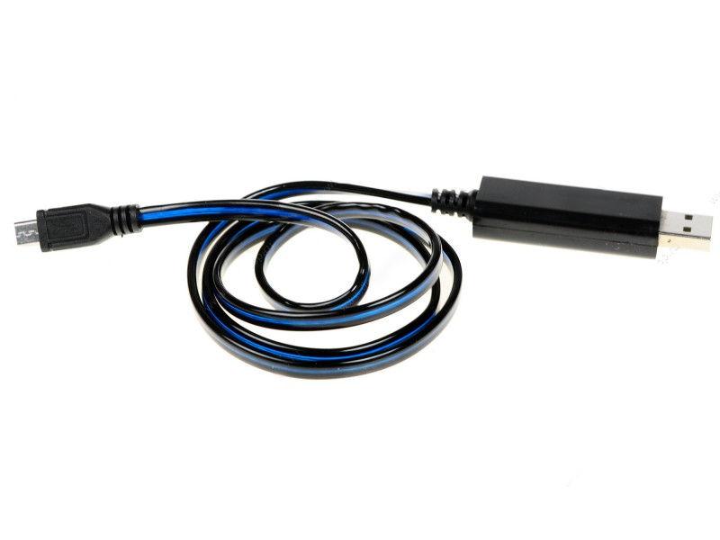Аксессуар Solomon LED microUSB 80cm Black-Purple