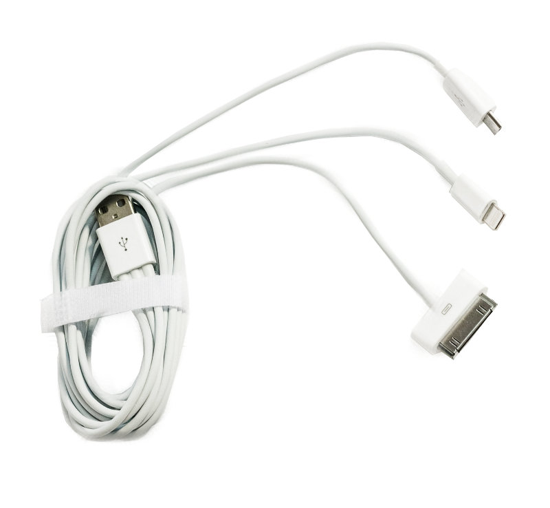 Аксессуар Solomon 3 in 1 Universal Cable White
