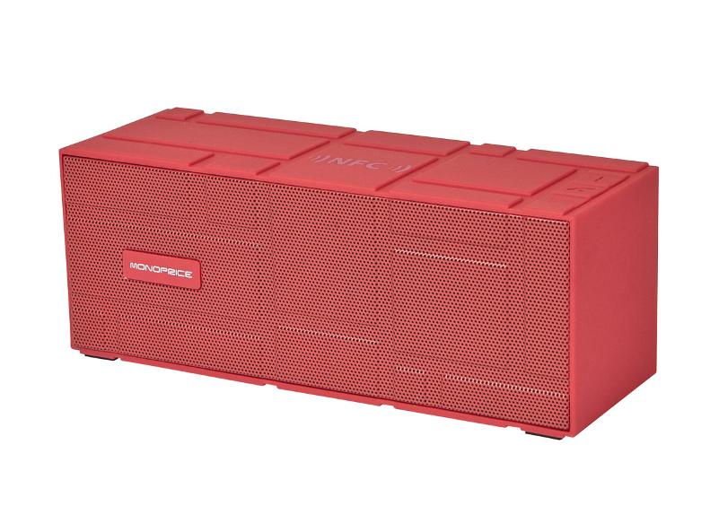 Колонка Monoprice Portable Bluetooth 10950 NFC Brick Red