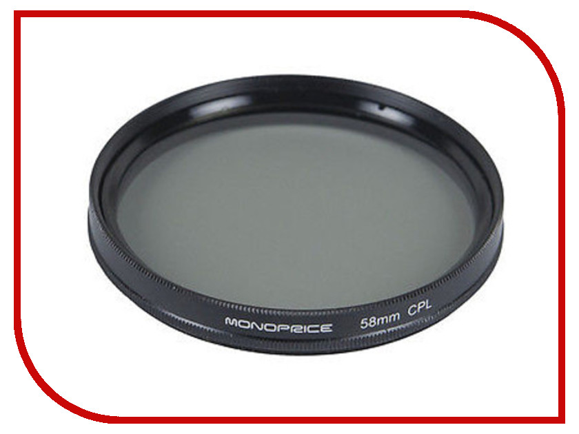 Светофильтр Monoprice CPL 58mm 10175